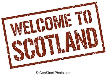 welcome to Scotland stamp