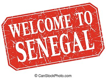 welcome to Senegal red square grunge stamp