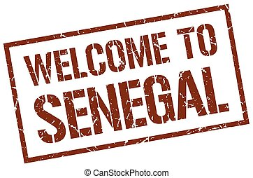 welcome to Senegal stamp