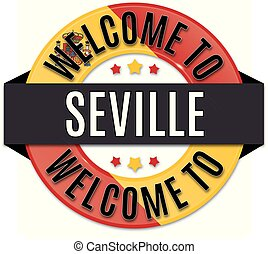 welcome to SEVILLE spain flag icon
