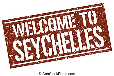 welcome to Seychelles stamp
