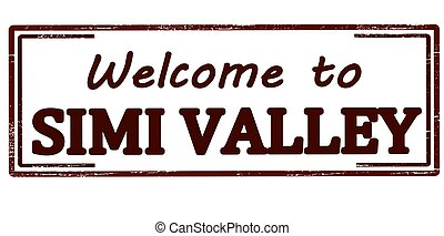 Rubber stamp with text welcome to Simi Valley inside, vector illustration