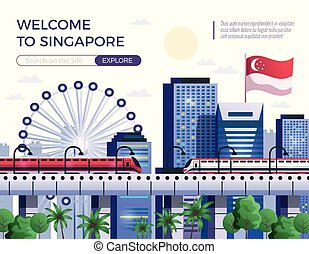 Welcome To Singapore Vector Illustration