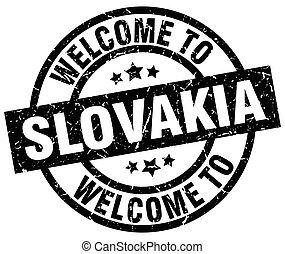 welcome to Slovakia black stamp