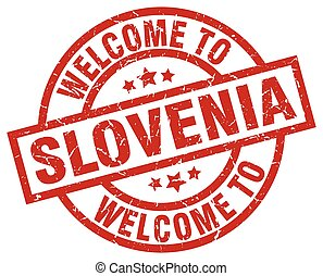 welcome to Slovenia red stamp