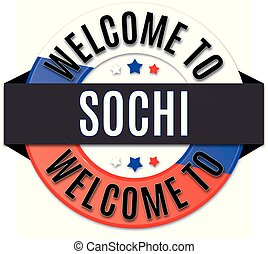 welcome to sochi russia flag icon