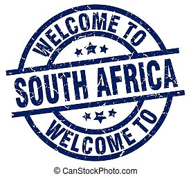 welcome to South Africa blue stamp