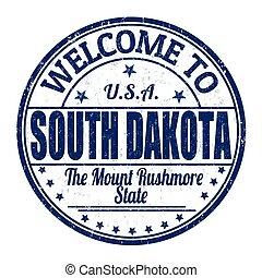 Welcome to South Dakota stamp