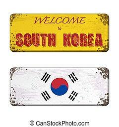 Welcome to South Korea nameplate