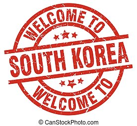 welcome to South Korea red stamp