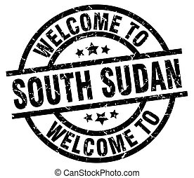 welcome to South Sudan black stamp