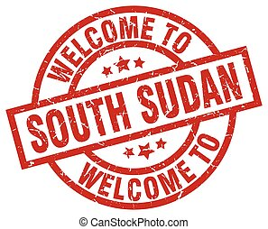 welcome to South Sudan red stamp