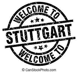 welcome to Stuttgart black stamp