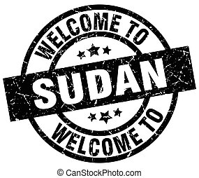 welcome to Sudan black stamp