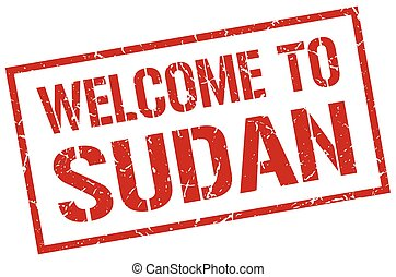 welcome to Sudan stamp