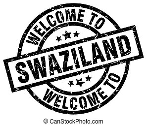 welcome to Swaziland black stamp