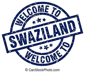 welcome to Swaziland blue stamp