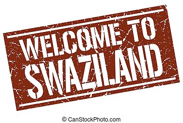 welcome to Swaziland stamp