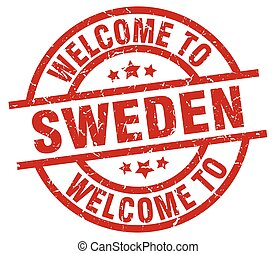 welcome to Sweden red stamp