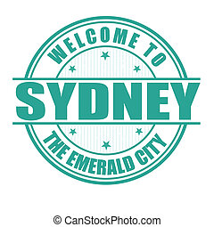 Welcome to Sydney stamp