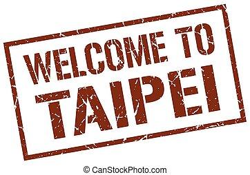 welcome to Taipei stamp