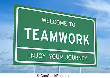 Welcome to Teamwork concept