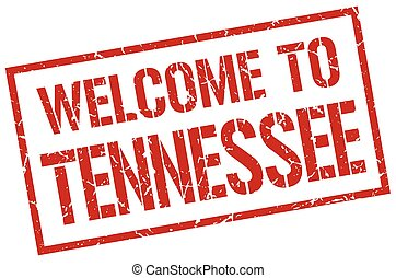 welcome to Tennessee stamp
