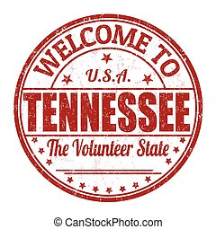 Welcome to Tennessee grunge rubber stamp on white background, vector illustration