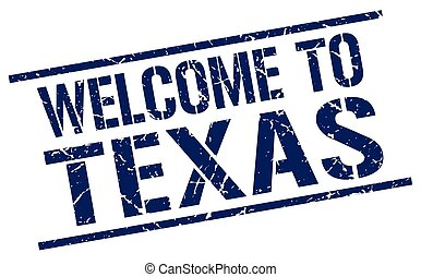 welcome to Texas stamp