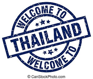 welcome to Thailand blue stamp