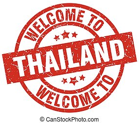 welcome to Thailand red stamp