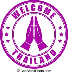 Welcome to Thailand vector emblem