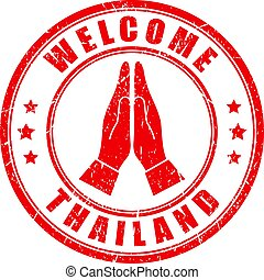 Welcome to Thailand vector stamp