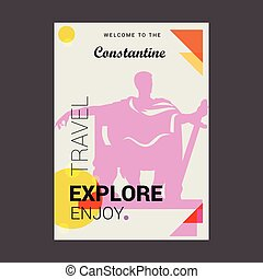 Welcome to The Constantine, Algeria Explore, Travel Enjoy Poster Template