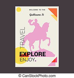 Welcome to The Guillaume li Explore, Travel Enjoy Poster Template