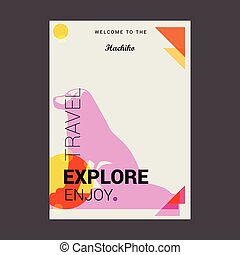 Welcome to The Hachiko, Japan Explore, Travel Enjoy Poster Template