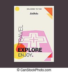 Welcome to The Lalibela, Ethiopia Explore, Travel Enjoy Poster Template