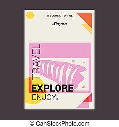 Welcome to The Niagara Ontario???, Canada Explore, Travel Enjoy Poster Template