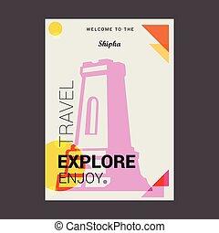 Welcome to The Shipka, Bulgaria Explore, Travel Enjoy Poster Template