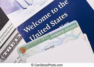 Welcome to the USA. Immigration Welcome Letter and Green...