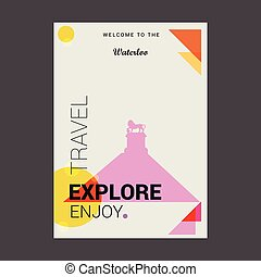 Welcome to The Waterloo, Canada Explore, Travel Enjoy Poster Template