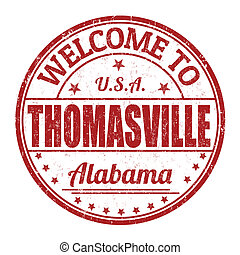 Welcome to Thomasville stamp