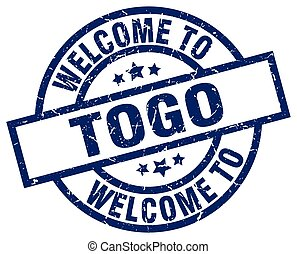 welcome to Togo blue stamp