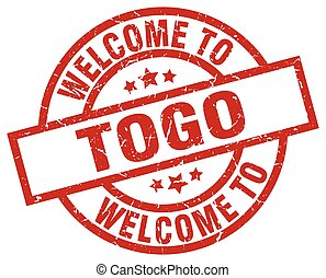 welcome to Togo red stamp