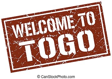 welcome to Togo stamp