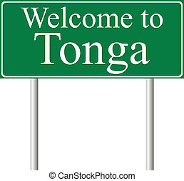Welcome to Tonga, concept road sign