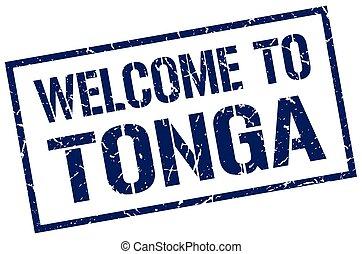 welcome to Tonga stamp