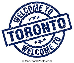 welcome to Toronto blue stamp