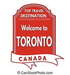 Welcome to Toronto stamp