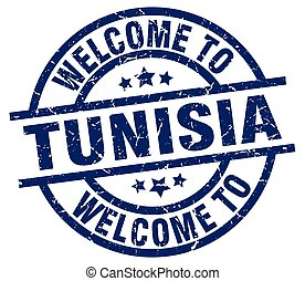 welcome to Tunisia blue stamp